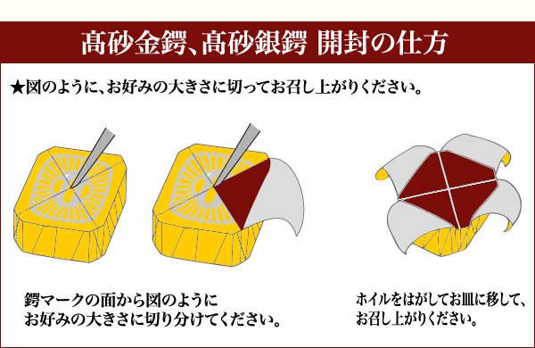 高砂金鍔・銀鍔の開け方